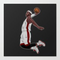 lebron Canvas Prints featuring Lebron James by siddick49