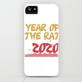 Year Of The Rat 2020 Chinese New Year Holiday Celebration iPhone Case