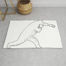 Kodiak Bear Left Straight Punch Drawing Rug