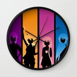 Silhouetted Manga Artists Wall Clock