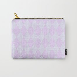 Pink Harlequin Diamonds Carry-All Pouch