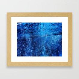 Below The Waves Framed Art Print