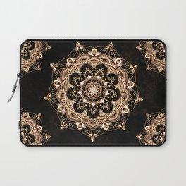 Glowing Spirit Black White Mandala Design Laptop Sleeve