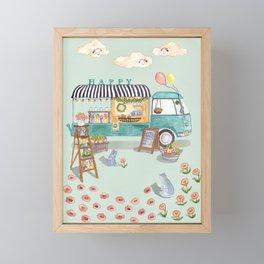 Flower Truck Framed Mini Art Print