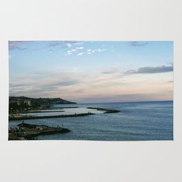 Cool Seaside Sunset Rug