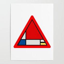Mondrian Road Sign Poster
