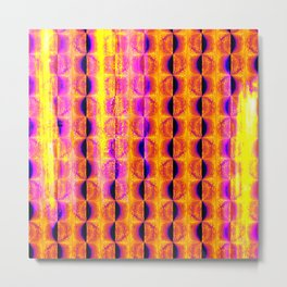 Cool Colorful Half-Moon Stripe Pattern Metal Print