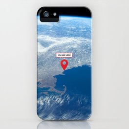 You are here: Earth orbit iPhone Case