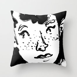 Ink Portrait Throw Pillow