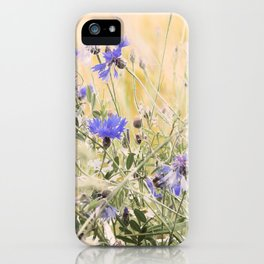 #Elegant #Beautiful #Wildflower #meadow #pattern iPhone Case