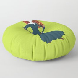 Merida from the Brave Floor Pillow