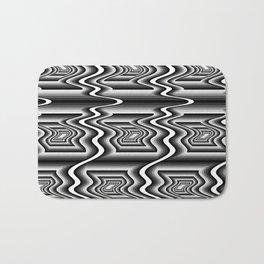 Grey Optical Pattern Bath Mat