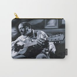 Blues Man With Guitar Carry-All Pouch