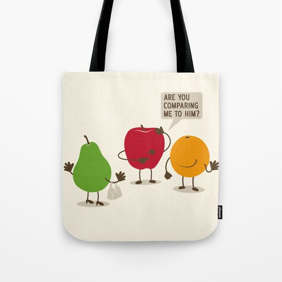 Like Apples and Oranges Tote Bag