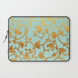 Golden Damask pattern Laptop Sleeve