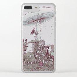 Rain of Spores Clear iPhone Case