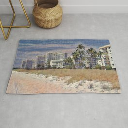 Marco Island, Florida South Seas Impressionist Painting Rug