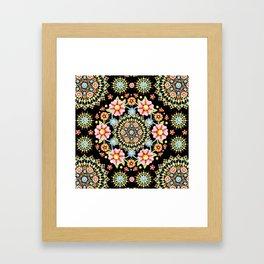 Flower Crown Bijoux Framed Art Print