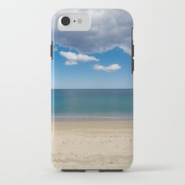Stripes of blue iPhone Case