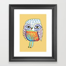 colorful Owl, owl art, owl design, owl print, Framed Art Print