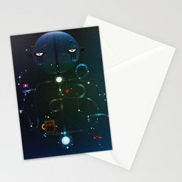 Self Portrait: Raid Boss, Coffee and Constellations Stationery Cards