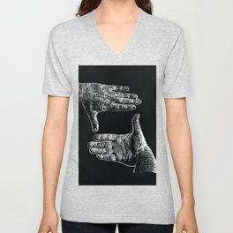hands framing Unisex V-Neck