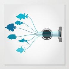 Fish a guitar Canvas Print