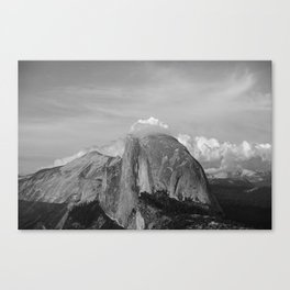 Half Dome in Black and White Canvas Print