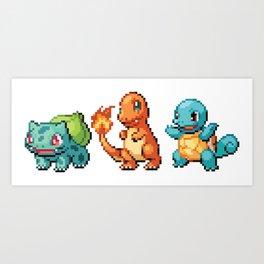 First Gen - Pixel Art Art Print