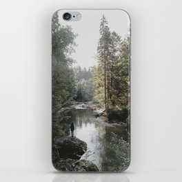 All the Drops form a River - landscape photography iPhone Skin