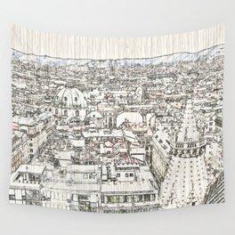 Austria - sketchy Vienna 1 Wall Tapestry