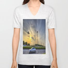 The Sunset Landing Unisex V-Neck