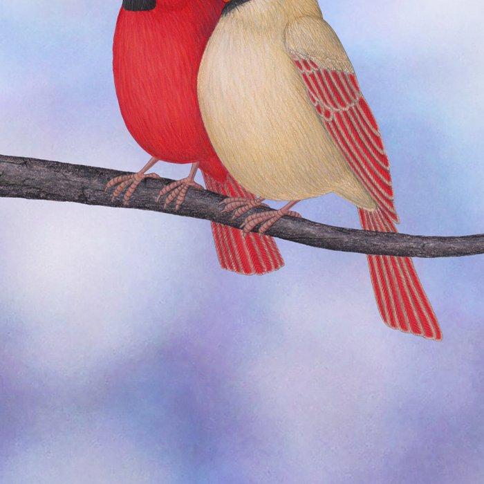 northern cardinals (bokeh) Leggings