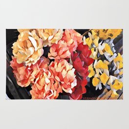 Peaches and Cream Floral Bouquet Rug