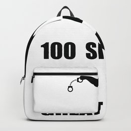 Kinds of a mad policeman cop police Backpack