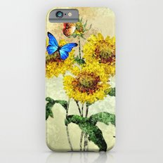 Summer Flowers and Butterflies iPhone 6s Slim Case