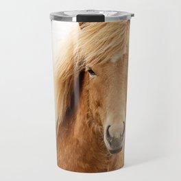 Icelandic Chestnut Horse Travel Mug