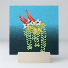 Flax, Kowhai and Manuka Flowers Mini Art Print