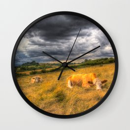 The Resting Cows Wall Clock