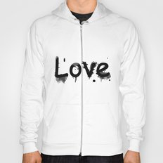 Black and white pattern Love .  1 Hoody