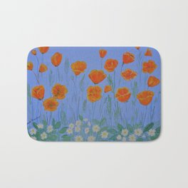 Poppies And Primroses Bath Mat
