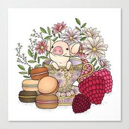 sweet pig Canvas Print