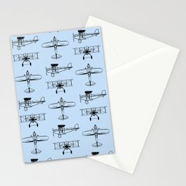 Biplanes // Light Blue Stationery Cards