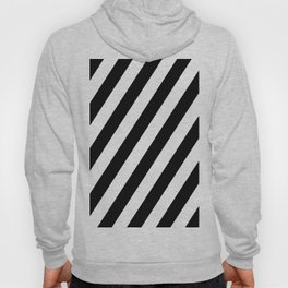 Diagonal Stripes Black & White Hoody