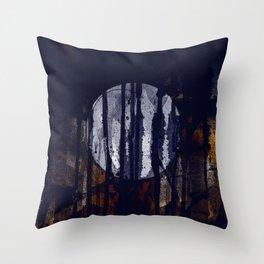 disquiet thirty one (a lua, a sujeira) Throw Pillow