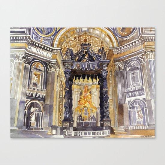 Saint Peter interior Canvas Print