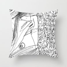 Line and Words - 2 Throw Pillow