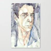 lou reed Canvas Prints featuring Lou Reed by Germania Marquez