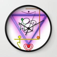 All Chakra Symbol Wall Clock