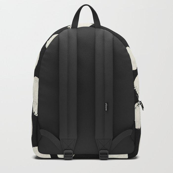 Trendy Cream Polka Dots on Black Backpack
